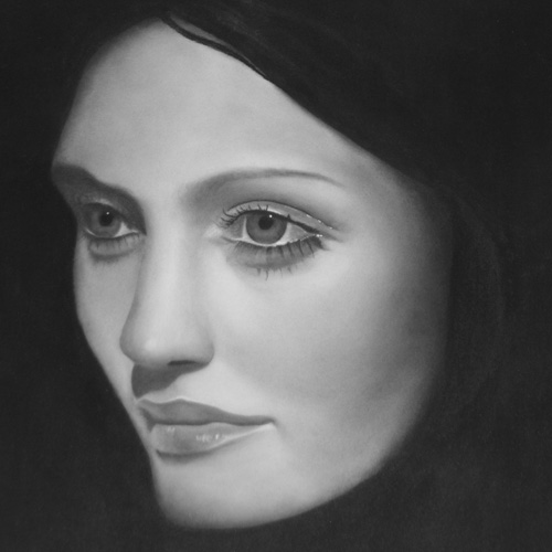 Charcoal drawing of woman 3
